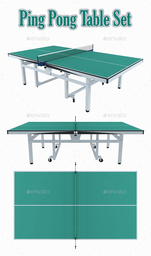 GraphicRiver Ping Pong Table Set 8862951