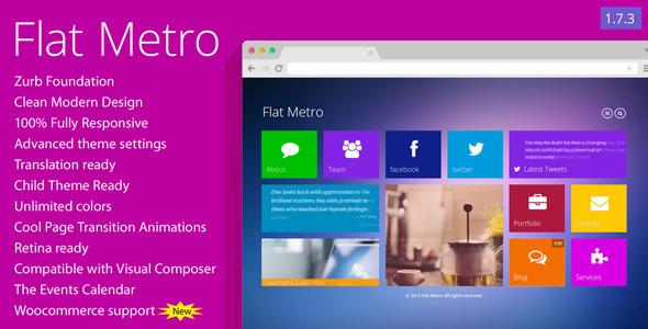 Flat Metro - Responsive WordPress Theme - Creative WordPress