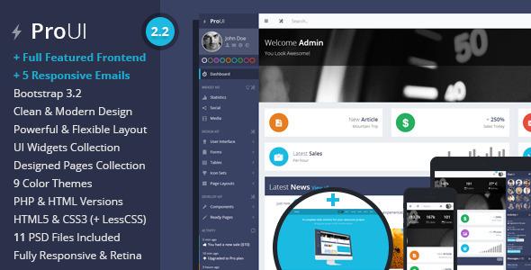 ProUI - Responsive Bootstrap Admin Template - Admin Templates Site Templates