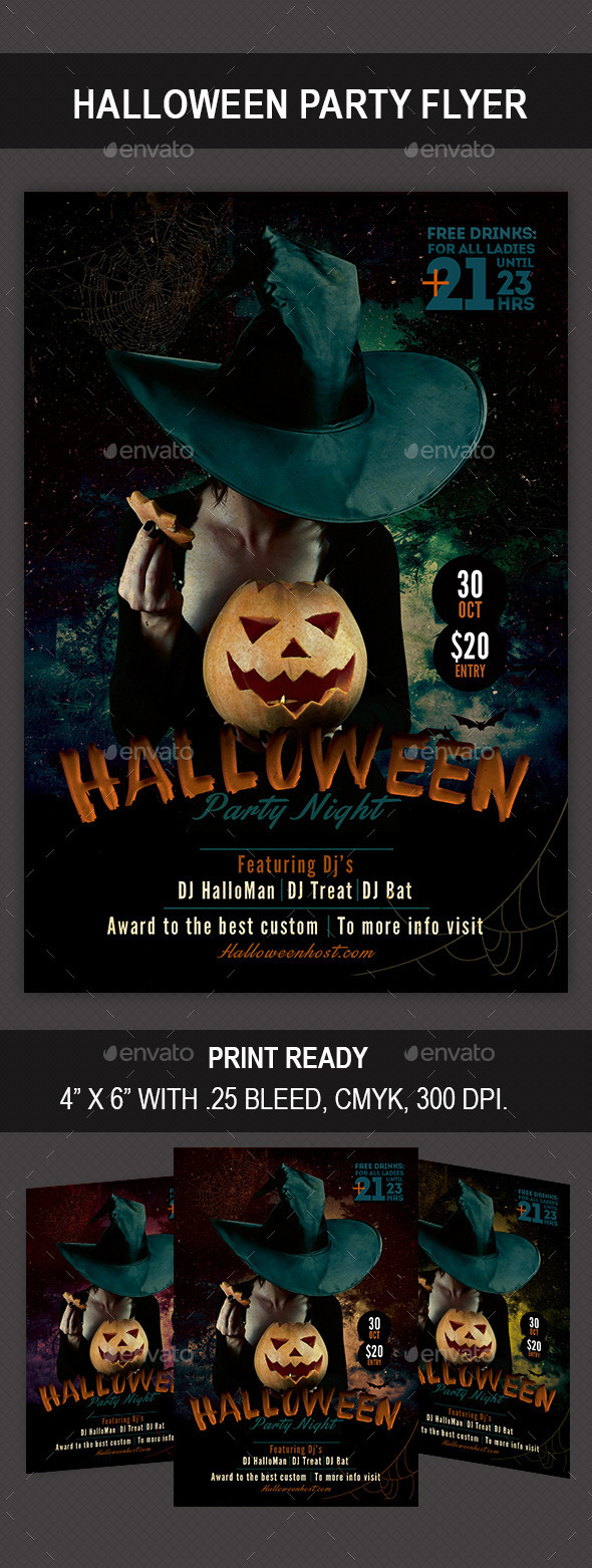 GraphicRiver Halloween Party Flyer 8863230