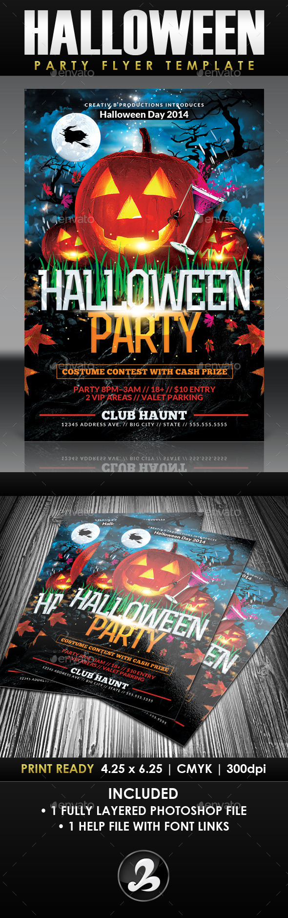 GraphicRiver Halloween Party Flyer Template 2 8863341