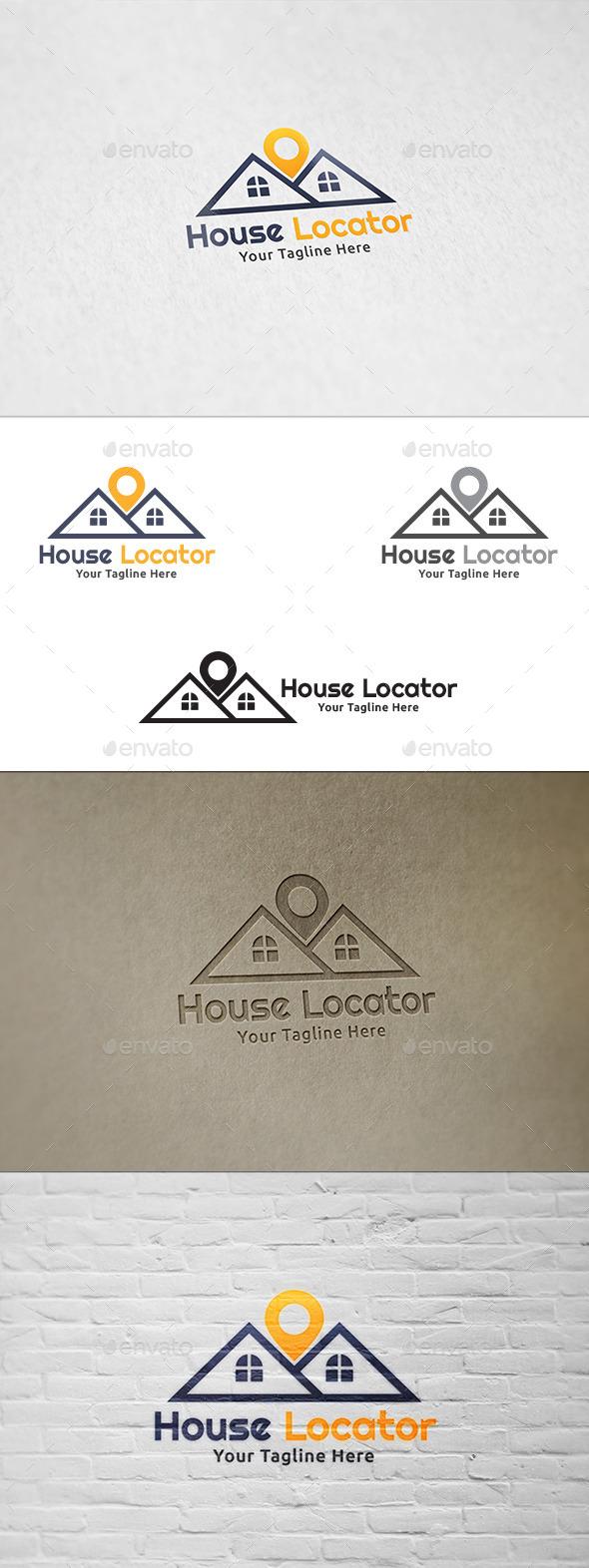 GraphicRiver House Locator Logo Template 8863342