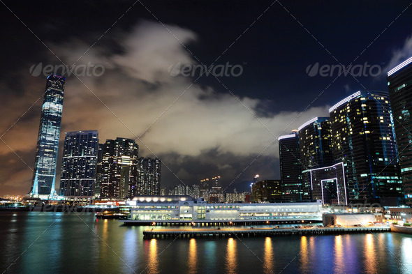 kowloon at night - Stock Photo - Images