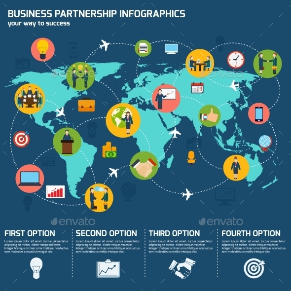 GraphicRiver Business Partnership Infographics 8863364