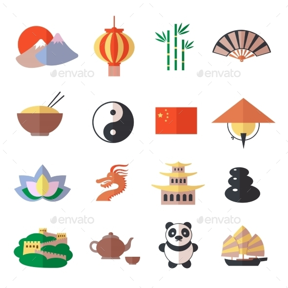 GraphicRiver China Icons Set 8863788