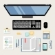 Office Workplace Flat - GraphicRiver Item for Sale