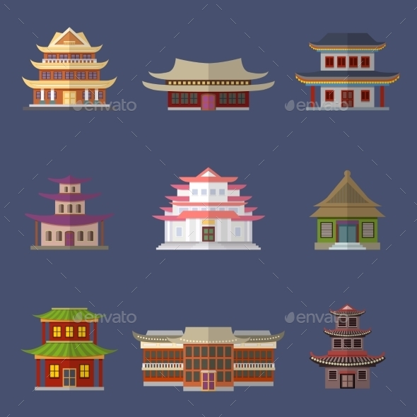 GraphicRiver Chinese House Icons 8863802