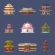 Chinese House Icons - GraphicRiver Item for Sale