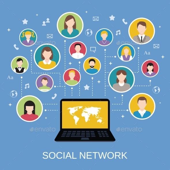 GraphicRiver Social Network Concept 8863810