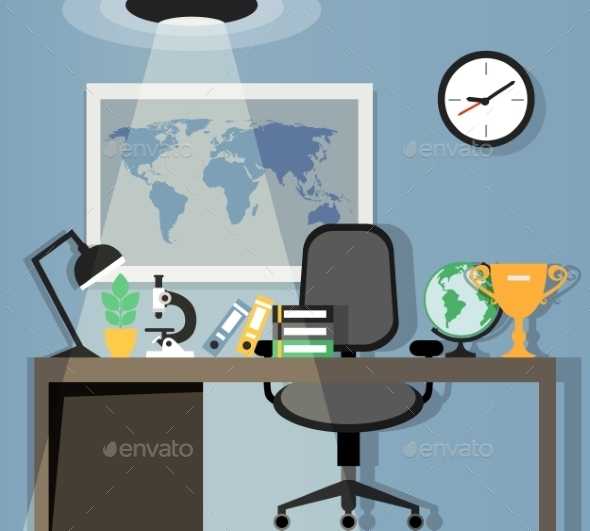 GraphicRiver Office Workplace Design 8863811