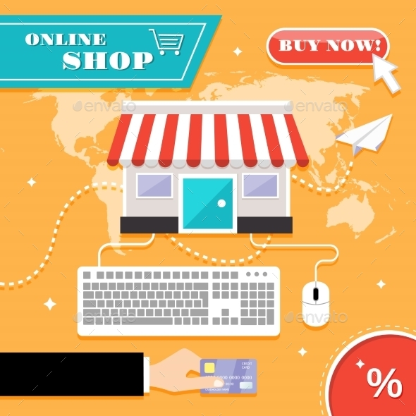GraphicRiver Online Shopping Concept 8863812