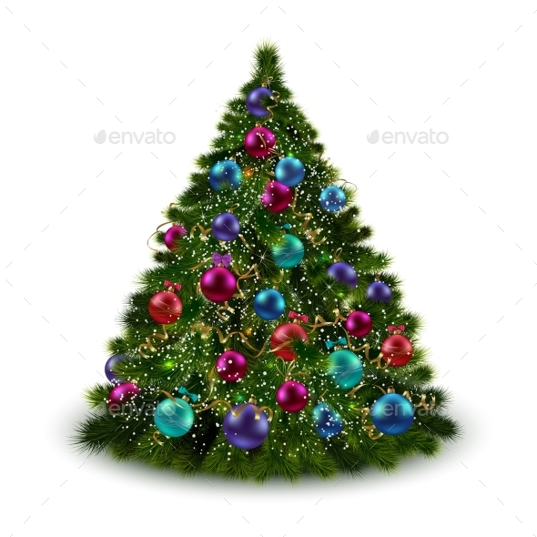GraphicRiver Christmas Tree Isolated 8863824