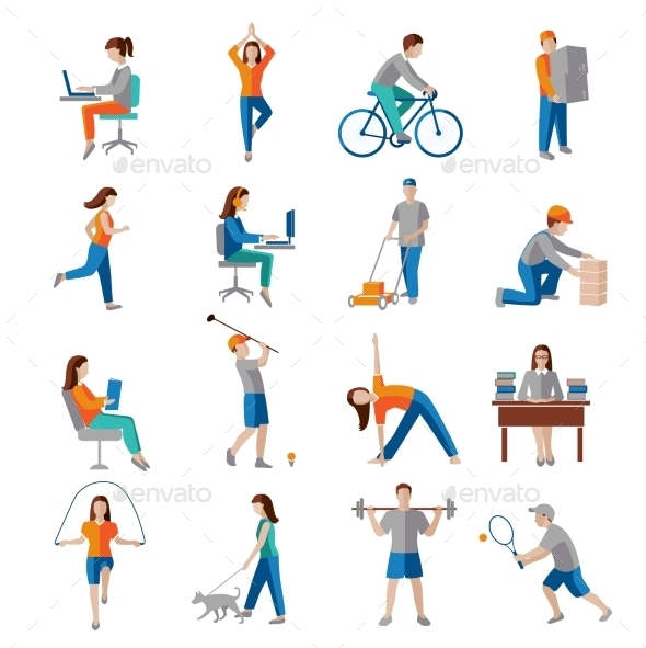 GraphicRiver Physical Activity Icons 8863826