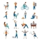 Physical Activity Icons - GraphicRiver Item for Sale