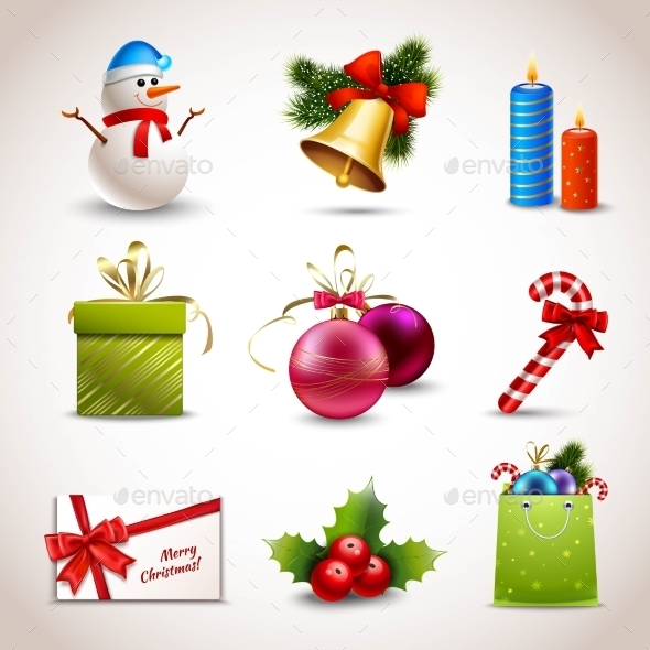 GraphicRiver Christmas Icons Set 8863827