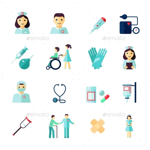 GraphicRiver Nurse Icons 8863831