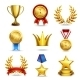 Realistic Award Icons Set - GraphicRiver Item for Sale