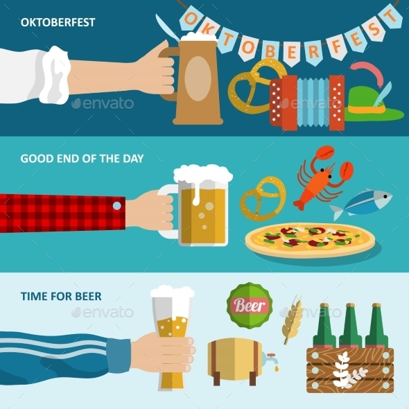 GraphicRiver Beer Banner Set 8863835