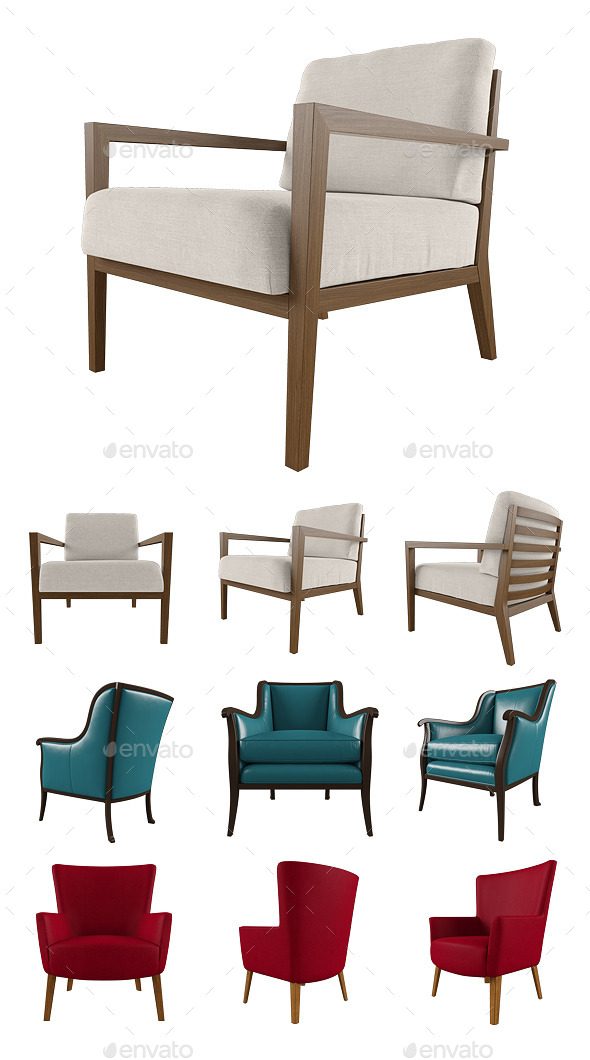 GraphicRiver Armchair Set 8863842