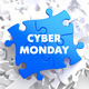 Cyber Monday on Blue Puzzle. - PhotoDune Item for Sale