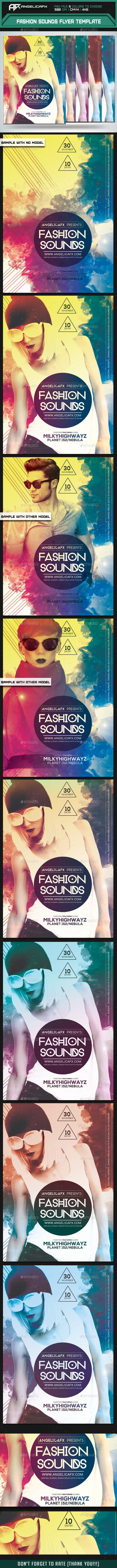 GraphicRiver Fashion Sounds Flyer Template 8864197