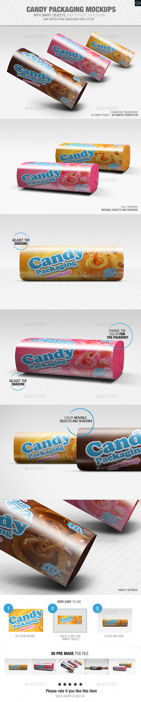 GraphicRiver Candy Packaging Mockups 8864374