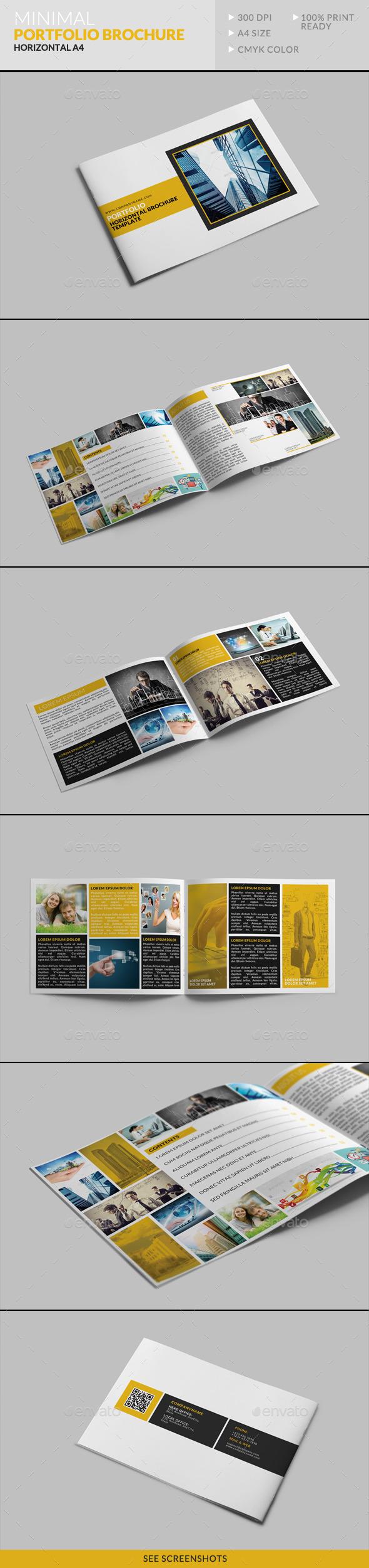 GraphicRiver Minimal Portfolio Brochure Horizontal A4 8864433