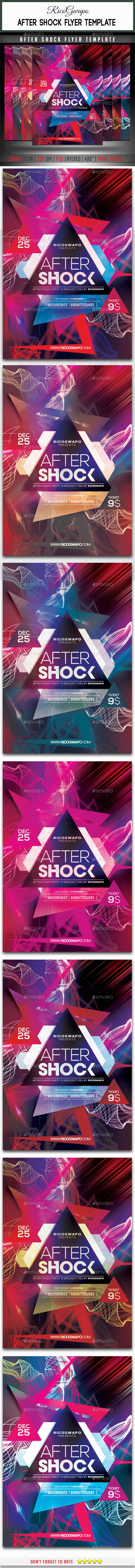 GraphicRiver After Shock Flyer Template 8858731