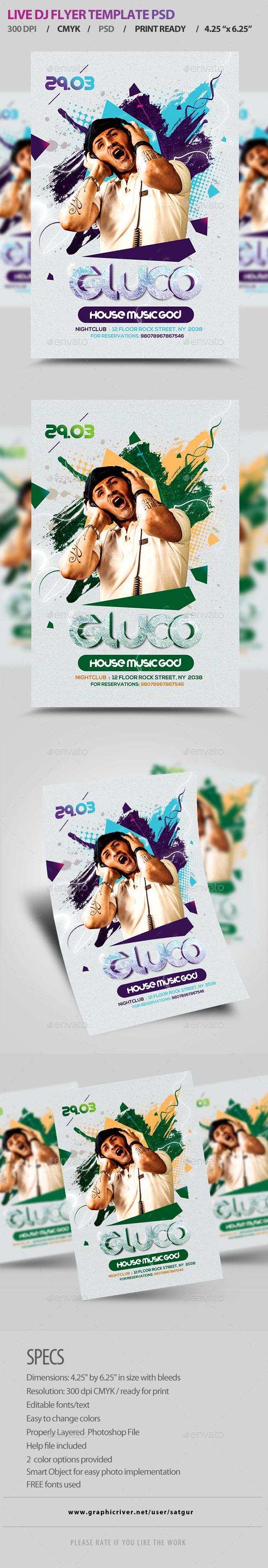 GraphicRiver Guest DJ Flyer Template PSD V8 8866002