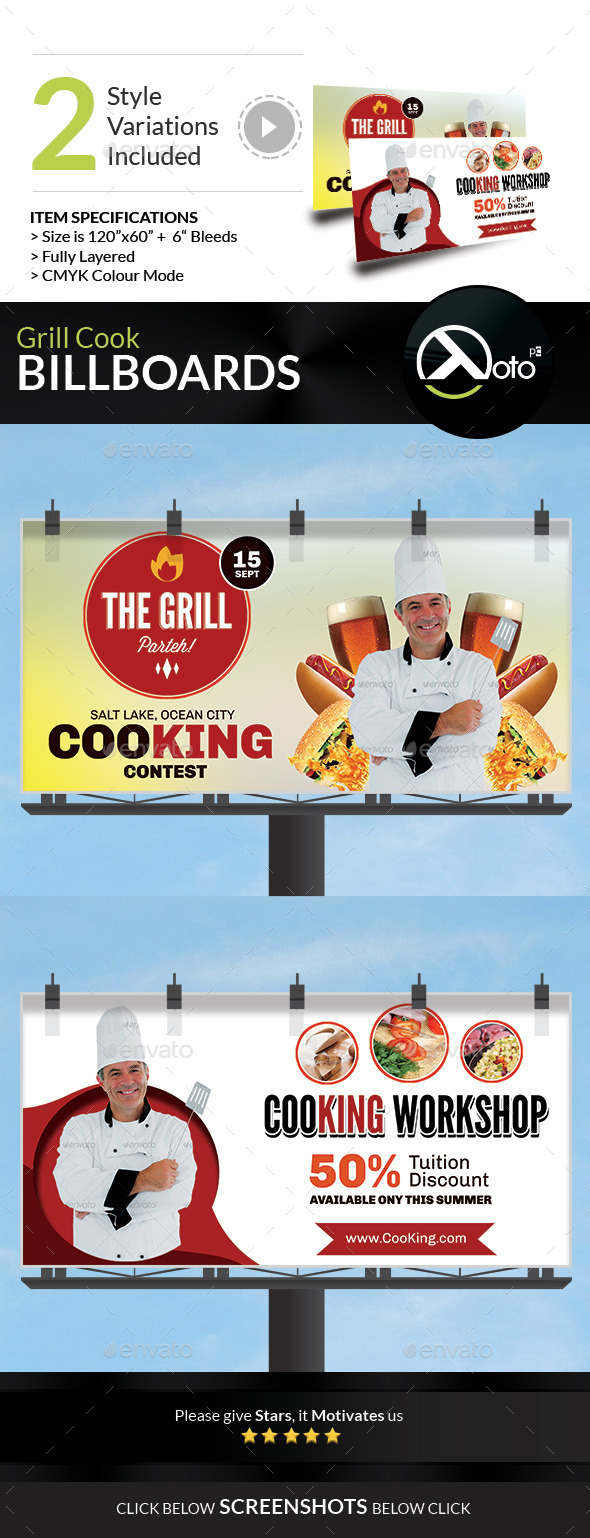 GraphicRiver Grill Cook Outdoor Kebab Party Billboard 8866074