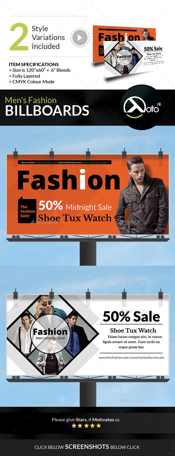 GraphicRiver Men Fashion Style Clothing Billboard 8866376