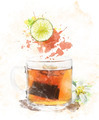 Watercolor Image Of  Tea - PhotoDune Item for Sale