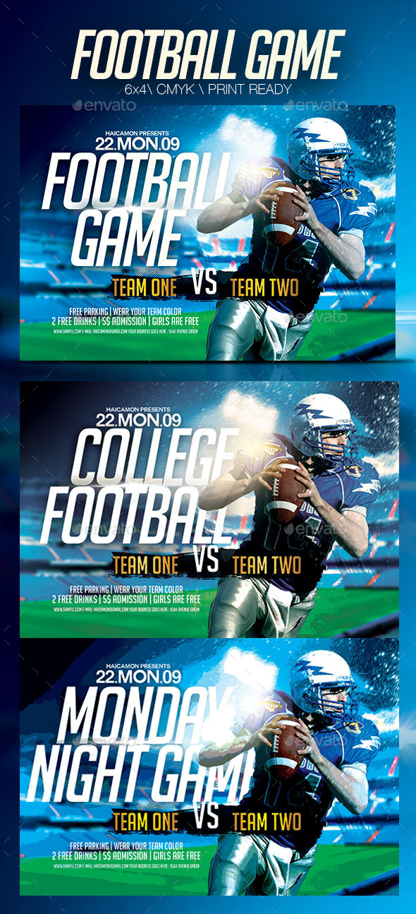 GraphicRiver Football Game Template Flyer 8861048
