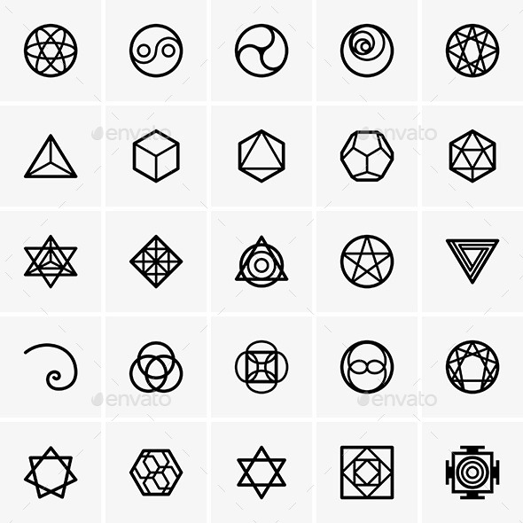 GraphicRiver Sacred Geometry Icons 8866786