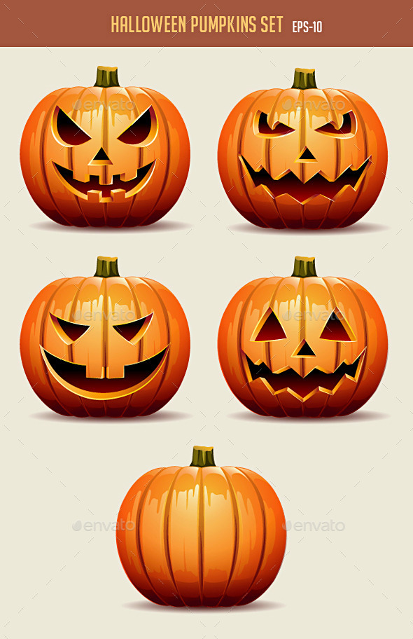 GraphicRiver Halloween Pumpkins Set 8866787