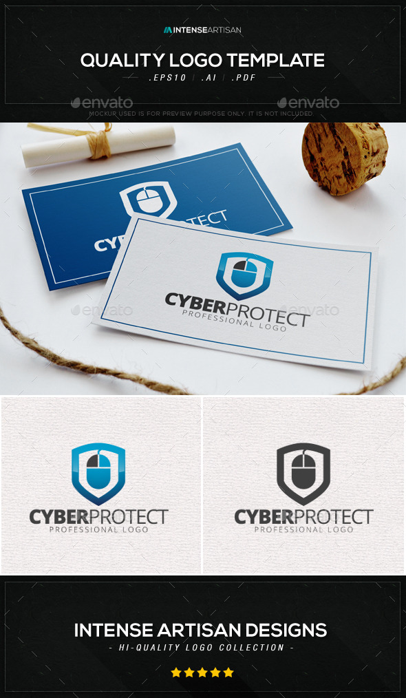 GraphicRiver Cyber Protect Logo Template 8866963