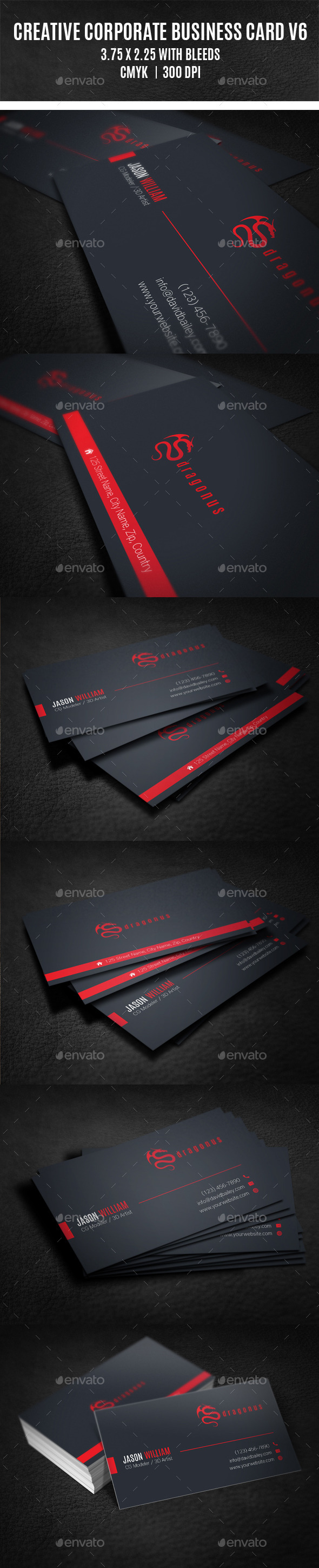 GraphicRiver Creative Corporate Business Card V6 8867007