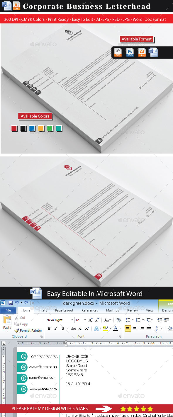 GraphicRiver Vectorial Business Letterhead 8867259