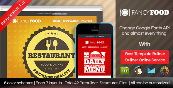 ThemeForest FancyFood Responsive Email Template With Builder 8838588