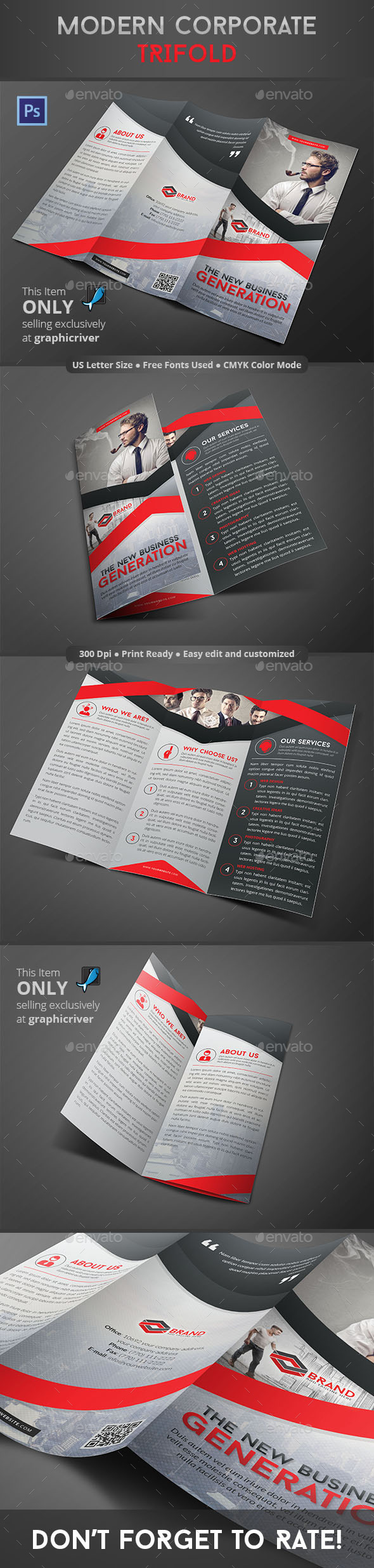 GraphicRiver Modern Corporate Trifold 8867365