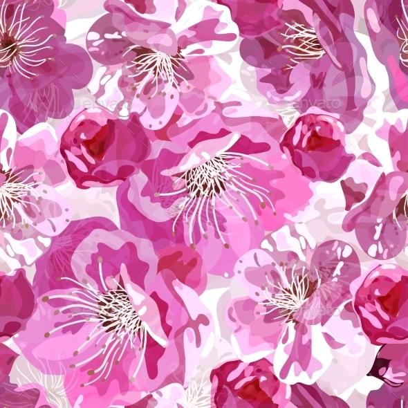 GraphicRiver Sakura Seamless Pattern 8867581