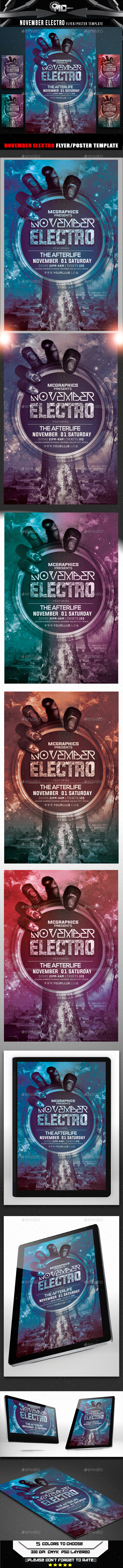 GraphicRiver November Electro Flyer Template 8867617