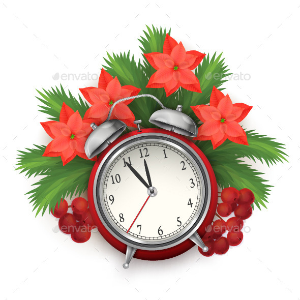 GraphicRiver Christmas Time Composition with Alarm Clock 8867697