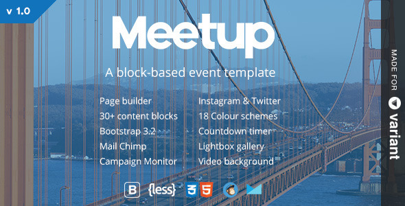 ThemeForest Meetup Conference & Event Landing Page With Page Builder 8836167