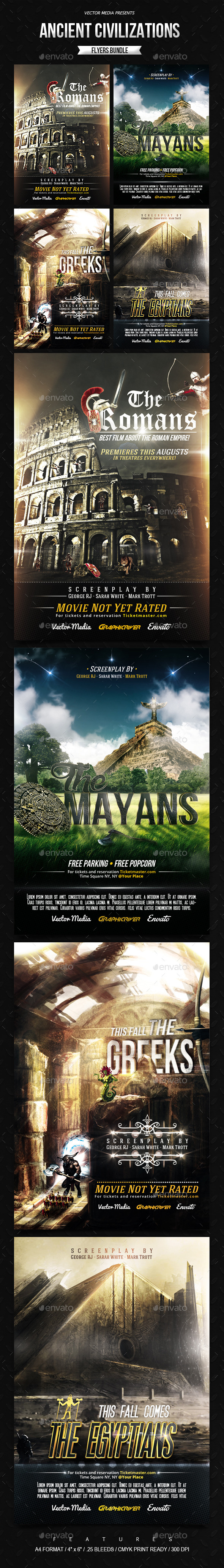 GraphicRiver Ancient Civilizations Movie Posters Bundle 8868000