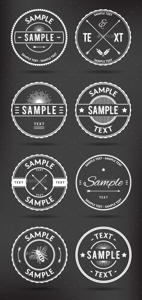 GraphicRiver Retro Badges 8868223