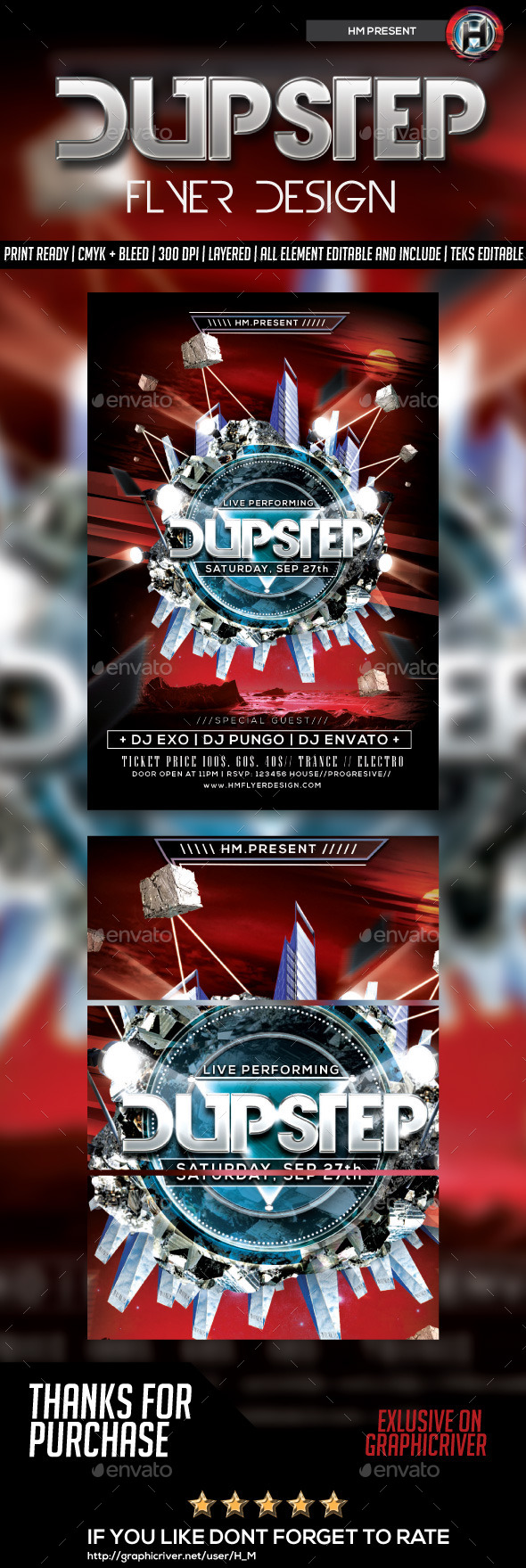 GraphicRiver DUBSTEP FLYER DESIGN 8868691