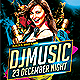 Music Night Party Flyer Psd Template - GraphicRiver Item for Sale