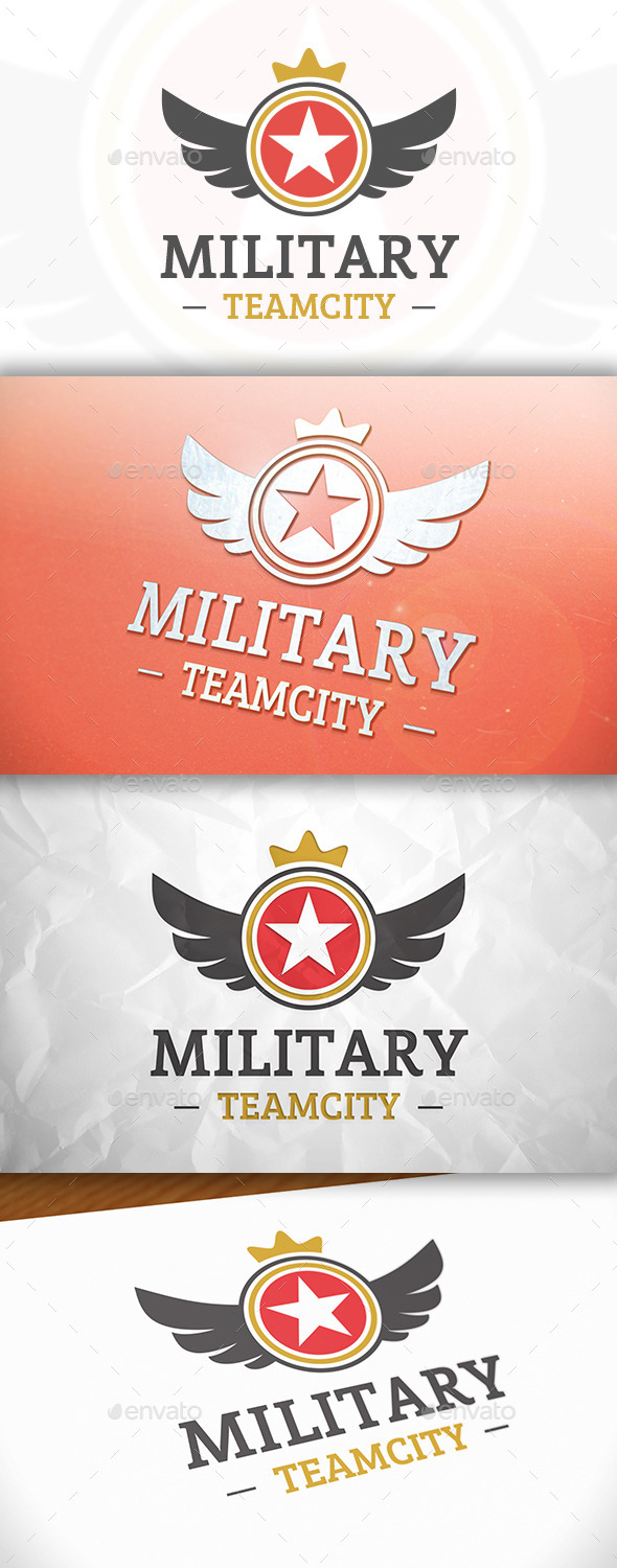 GraphicRiver Military Star Logo 8869087