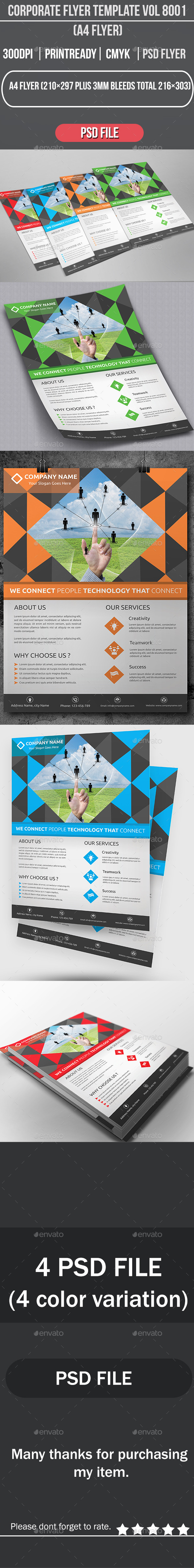 GraphicRiver Corporate Flyer Template Vol 8001 8869469